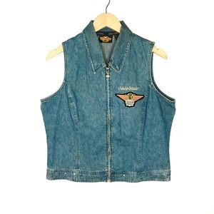 "Harley Davidson ""Ladies of Harley"" Denim Vest"